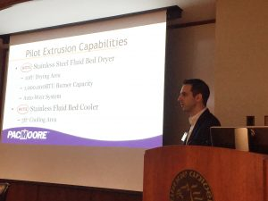 Jon Baner Senior Technical Manager of Extrusion at PacMoore presents at Purdue Food Science Industrial Associates Meeting
