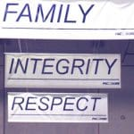 PacMoore believes in faith family integrity respect and excellence
