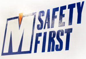 PacMoore's gives priority to the safety of our employees. Our wall is painted with the words 'safety first'.
