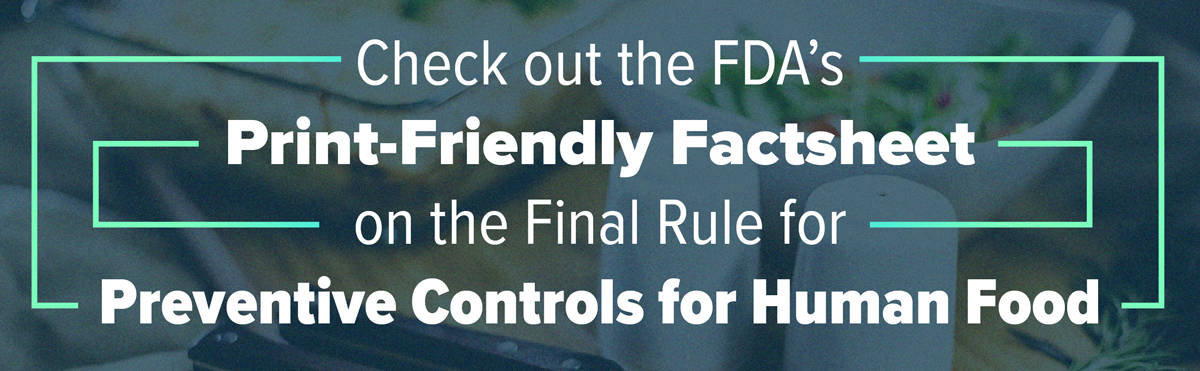 PacMoore Blog Factsheet New Rule Previntive Controls for Human Food