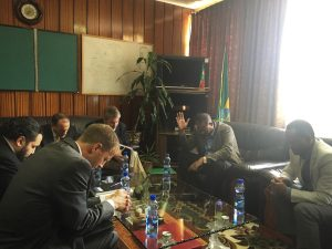 PacMoore in Prayer with Ethiopian Official