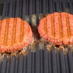 plant based meat on a grill